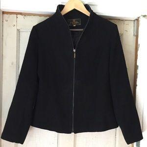 Vintage sleek FENDI black jacket